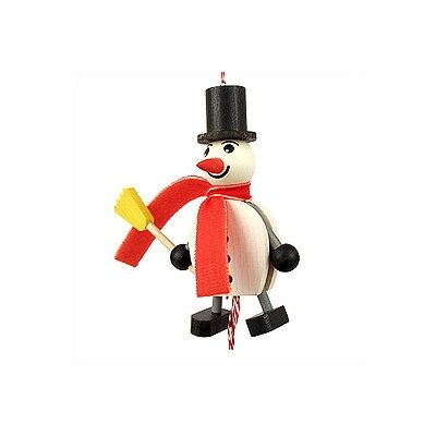 Wooden Snowman Jumping Jack Toy