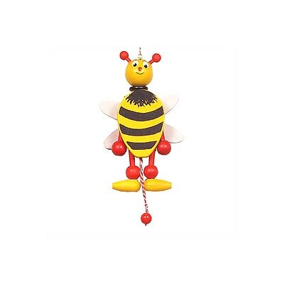 Alexander Taron Wooden Bee Jumping Jack Toy