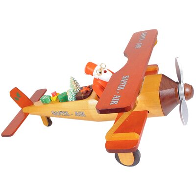 Richard Glaesser Santa in Bi-plane Incense Burner