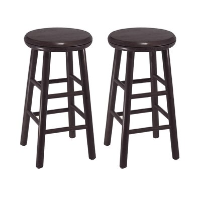 "Winsome 24"" Swivel Counter Stool in Dark Espresso (Set of 2)"