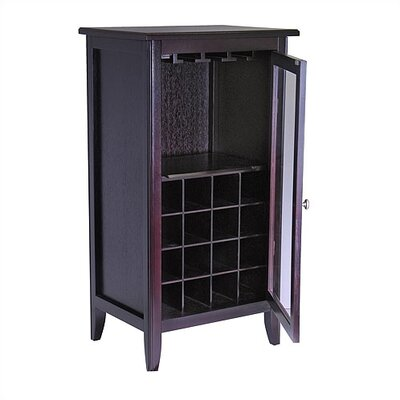 Winsome Espresso 16 Bottle Wine Cabinet
