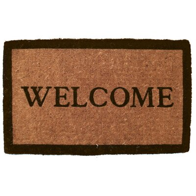 Entryways Extra Thickness Coir Simply Welcome Doormat