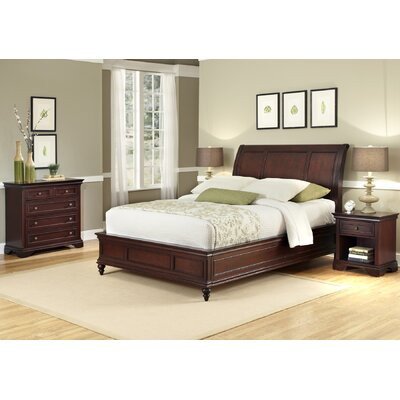 Home Styles Lafayette 3 Piece Sleigh Headboard Bedroom Collection