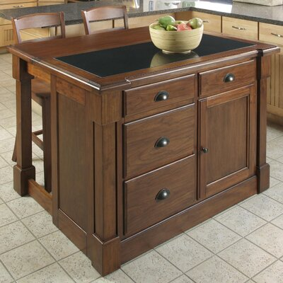 Aspen Kitchen Island Set with Granite Top