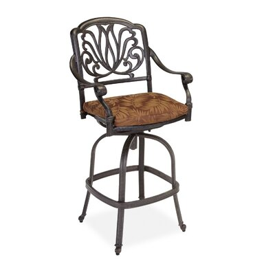 Home Styles Floral Blossom Swivel Stool with Cushion