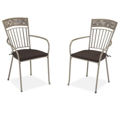 Home Styles Glen Rock Dining Arm Chair with Cushion (Set of 2)