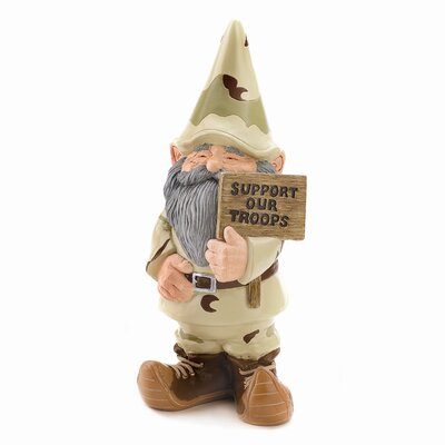 Zingz & Thingz Support Our Troops Camo Gnome Statue