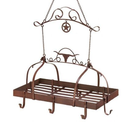 Zingz & Thingz Lonestar Longhorn Kitchen Hanging Pot Rack