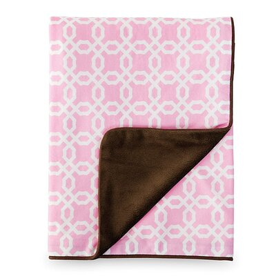Skip Hop Lattice Nursery Blanket in Pink