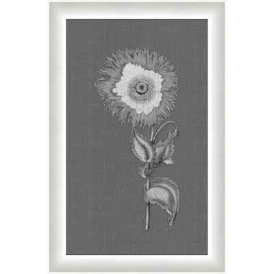 White Flora on Gray Linen ll Wall Art