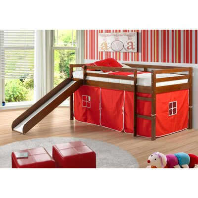Donco Kids Tent Twin Loft Bed with Slide & Reviews