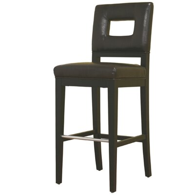 Wholesale Interiors Meiji Leather Barstool in Brown