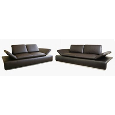 Wholesale Interiors Lucetta Leather 2-piece Sofa Set