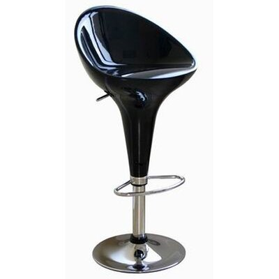 Wholesale Interiors Lucilius Mid-back Adjustable Swivel Barstool (Set of 2)