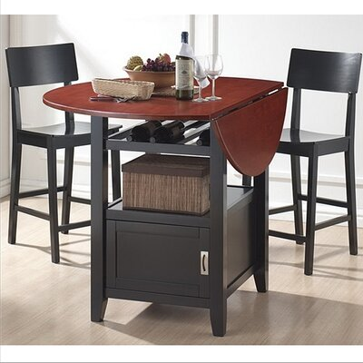 Wholesale Interiors Baxton Studio Dayton 5 Piece Modern Drop Leaf Pub Table Dining Set