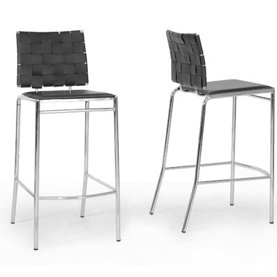 Wholesale Interiors Baxton Studio Vittoria Bonded Leather Modern Barstool (Set of 2)