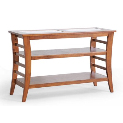 Wholesale Interiors Baxton Studio Allison Honey Wood Modern Console Table