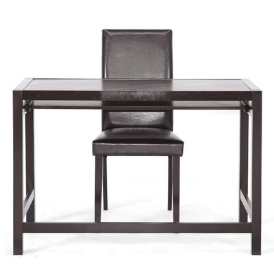 Wholesale Interiors Baxton Studio Mesa Computer Desk and Parson Chair Set
