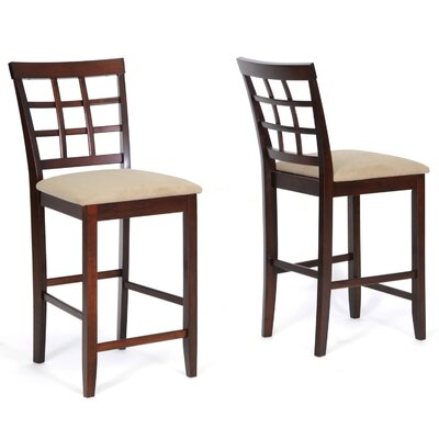 Wholesale Interiors Baxton Studio Katelyn Wood Modern Counter Stool (Set of 2)