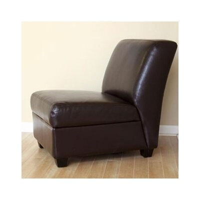 Fleance Leather Slipper Chair
