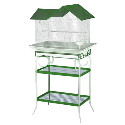 A&E Cage Co. House Style Bird Cage with Stand