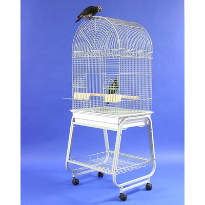 A&amp;E Cage Co. Dome Top Bird Cage with Plastic Base and Stand