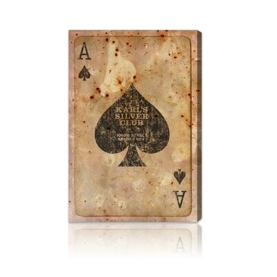"Oliver Gal ""Ace of Spades"" Canvas Art Print"