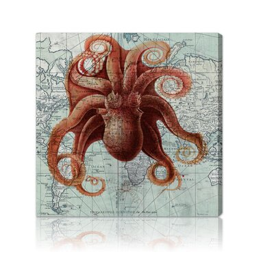 "Oliver Gal ""Octopus"" Canvas Art Print"