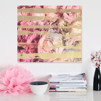 "Oliver Gal ""Fields Of Rose"" Canvas Wall Art"