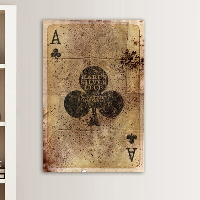"Oliver Gal ""Ace of Clubs"" Canvas Art Print"