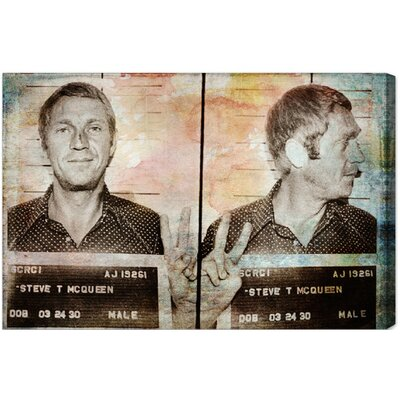Oliver Gal Steve McQueen Headshot Canvas Art