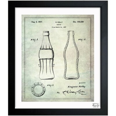 Oliver Gal Coca Cola Bottle 1937 Framed Art