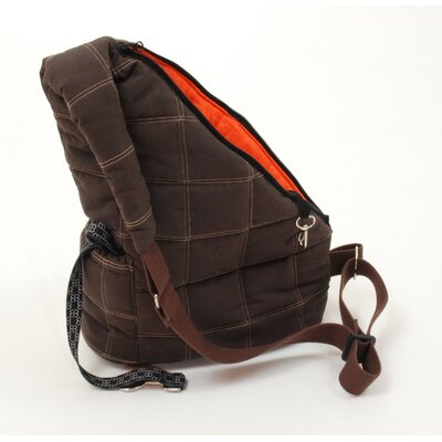 PetEgo Pooch Pouch Messenger Pet Carrier in Brown