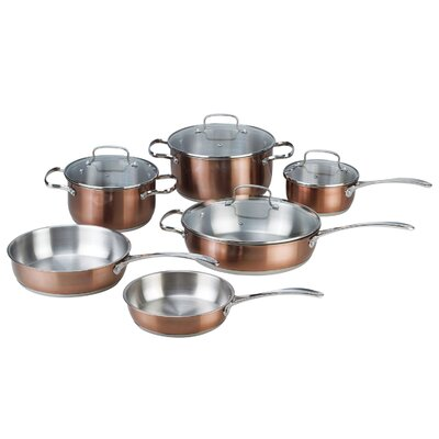 Kevin Dundon Stainless Steel 10-Piece Cookware Set