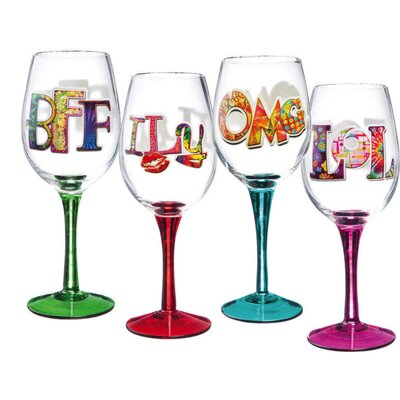 Texting Wine Glass (Set of 4)