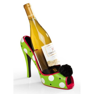 Polka Dot High Heel Wine Bottle Holder