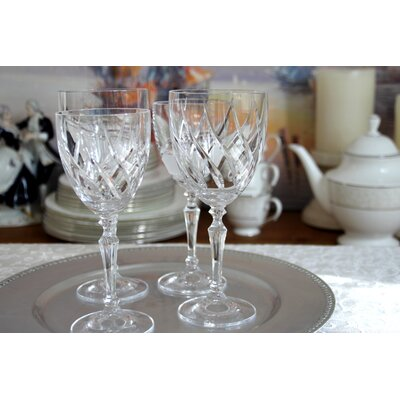 Martinka Crystalware & Lifestyle Fuego Vino Red Wine Glass With Crystal Flame Motif (Set of 4)