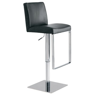 Nuevo Matteo Adjustable Bar Stool in Black