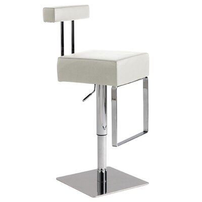 Nuevo Aria Adjustable Bar Stool in White