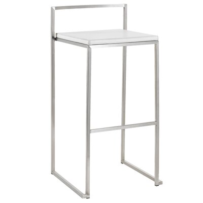 Nuevo Genoa Bar Stool in White