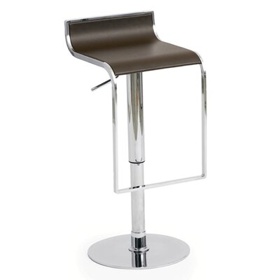 Nuevo Alexander Adjustable Bar Stool in Chocolate Leather