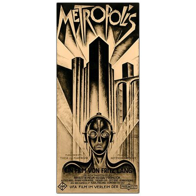 "Trademark Fine Art Metropolis by Schuluz Nendamm, Traditional Framed Canvas Art - 32"" x 18"""