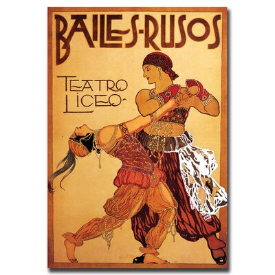 Bailes Rusos Teatro Liceo, Traditional Canvas Art - 18