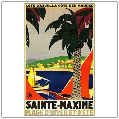 Sainte Maxime by Roger Broders, Traditional Canvas Art - 32