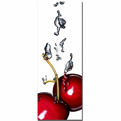 "Trademark Fine Art Cherry Splash II by Roderick Stevens, Canvas Art - 32"" x 12"""