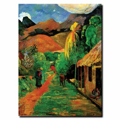 "Trademark Fine Art Rue de Tahiti by Paul Gaughin, Canvas Art - 19"" x 14"""