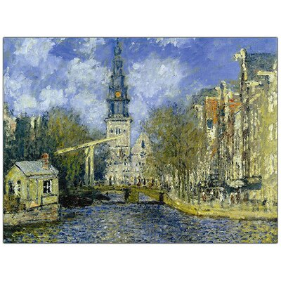 Trademark Fine Art Zuiderkerk at Amsterdam by Claude Monet Canvas Art