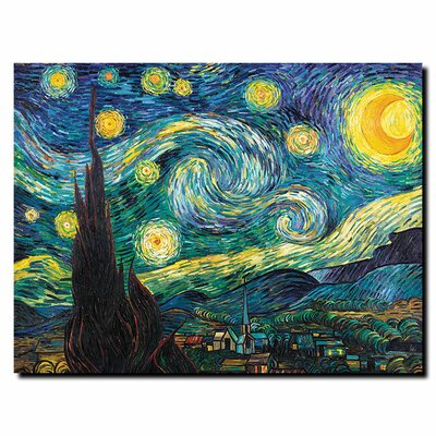Trademark Fine Art Starry Night by Vincent Van Gogh Canvas Art