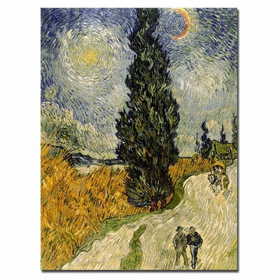 "Trademark Fine Art ""Road with Cypresses, 1890"" Canvas Art"