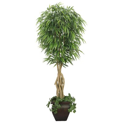 Laura Ashley Home Realistic Willow Ficus Tree in Decorative Planter